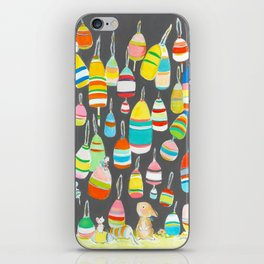 Bunny and buoys iPhone Skin
