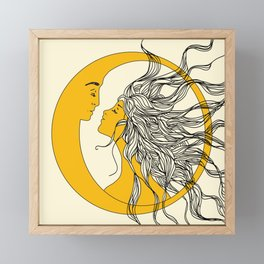 Sun and Moon Framed Mini Art Print