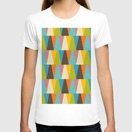 Retro Color Block Triangle Color Fun T-shirt