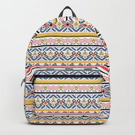 Ethnic ornament , white background Backpack