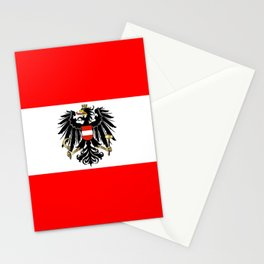 Austrian Flag and Coat of Arms Stationery Cards