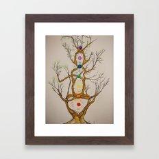 Align the Spirit-Chakra Tree Framed Art Print