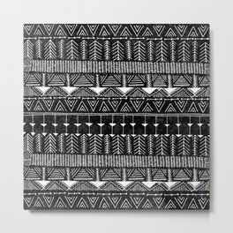 Lobo, Black Metal Print