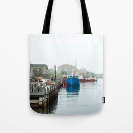 Peggy's Cove fishing village. Tote Bag