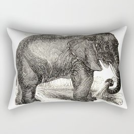 Vintage Elephant Illustration (1891) Rectangular Pillow