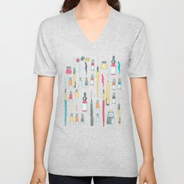 Addicted to Art supplies pattern Unisex V-Neck