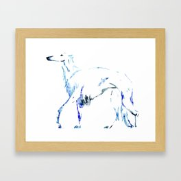 For the Love of Borzoi Framed Art Print