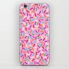 Pink Donut with Sprinkles iPhone Skin