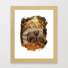 Bear: Fall Framed Art Print