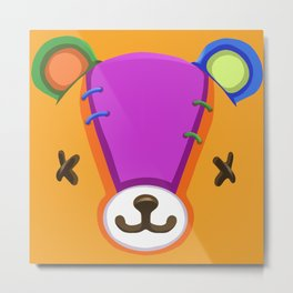 Animal Crossing Stitches the Cub Metal Print