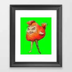 ugly angry angry boy bird Framed Art Print