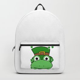 Leprechaun Frog- St. Patricks Day Backpack