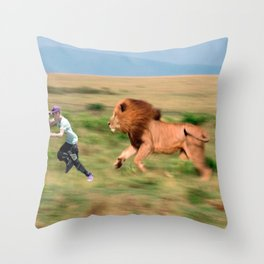 Run jb run Throw Pillow