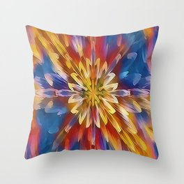Color Flow Abstract Throw Pillow