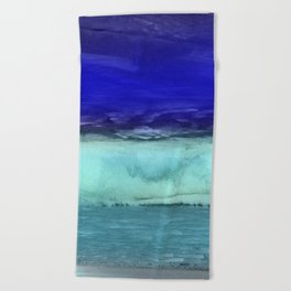 Midnight Waves Seascape Beach Towel