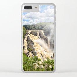Barron Falls under a summer sky Clear iPhone Case