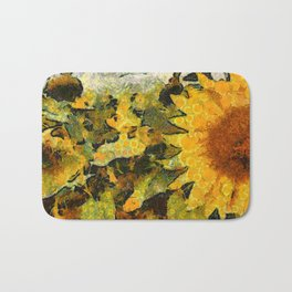 VG style fields of sunflowers Bath Mat