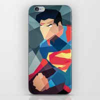 dc comics iPhone & iPod Skins featuring DC Comics Man of Steel by Eric Dufresne