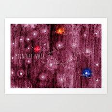 Midnight walk Art Print
