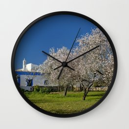 An Algarve almond orchard in Spring Wall Clock