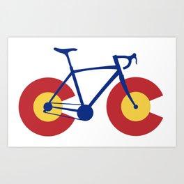 Colorado Flag Bicycle Art Print