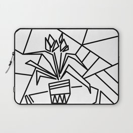 Flowers on the window -coloring Laptop Sleeve