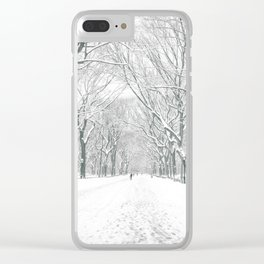 New York City Snow Clear iPhone Case