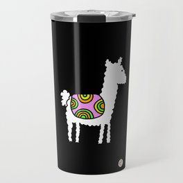 cute retro lama Travel Mug