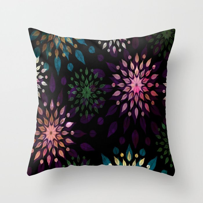 Mandala Splatter Craze Throw Pillow