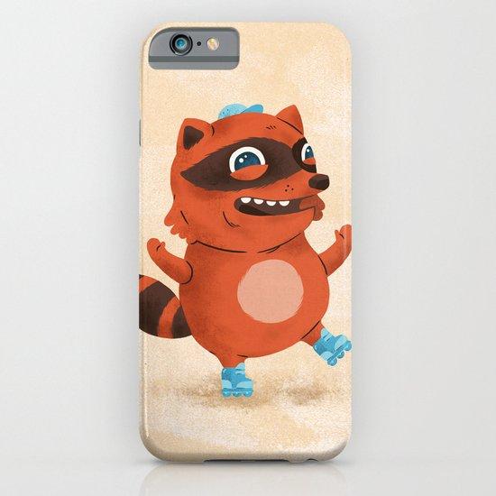 Rollerblade Raccoon iPhone & iPod Case