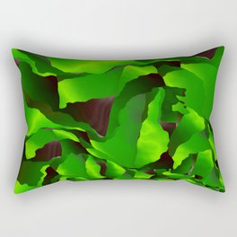 Green frayed abstraction Rectangular Pillow