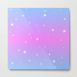 Magical Girl Stars Metal Print