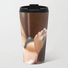Ladyboy Isabella Relaxing in the Sunlight Travel Mug