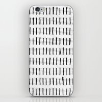 woodstock iPhone & iPod Skins featuring Black Ink Woodstock Pattern on White  by LacyDermy