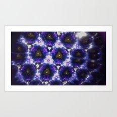 Kaleidoscope in Purple Art Print