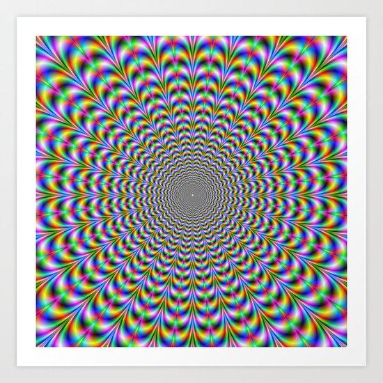 Psychedelic Web Art Print