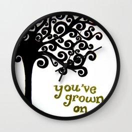 Grown On Me Tree Wall Clock