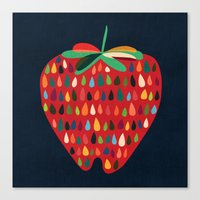 strawberry Canvas Prints featuring Strawberry by Picomodi