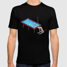 it`s Not Pool it`s Snooker Black Mens Fitted Tee LARGE