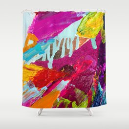Abstract from Krewe de Femmes collection Shower Curtain