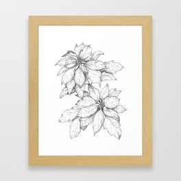 The December Birth Flower Framed Art Print