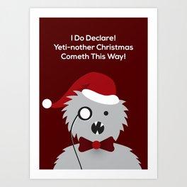 Yeti-nother Christmas Art Print