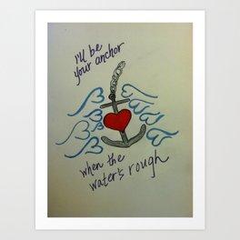 Anchored Love Art Print