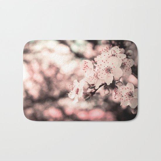 Sweet Spring (White Cherry Blossom) Bath Mat