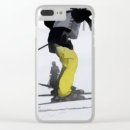 Natural High   - Ski Jump Landing Clear iPhone Case
