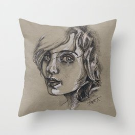 Study of a Girl 1 Throw Pillow