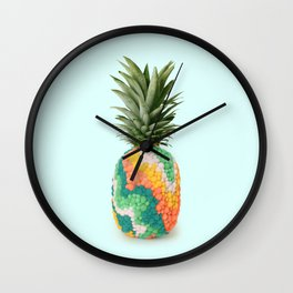 RETRO PINEAPPLE Wall Clock