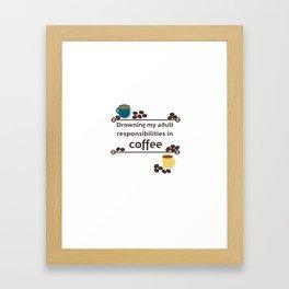 Drowning in Coffee Framed Art Print