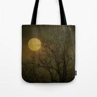 dark side of the moon Tote Bags featuring Dark Side by RDelean