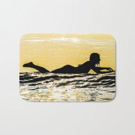 Sunrise Surfer Girl Bath Mat